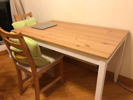 IKEA Dinning Table 飯枱 連4張椅