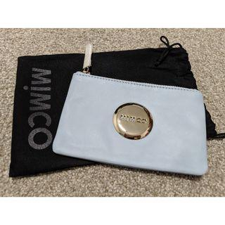 Mimco blue leather small pouch