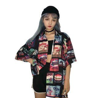 Korean Fashion Shirt Harajuku ( preorder est 2wks )