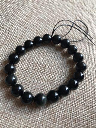 🚚 10mm Rainbow Obsidian Bracelet