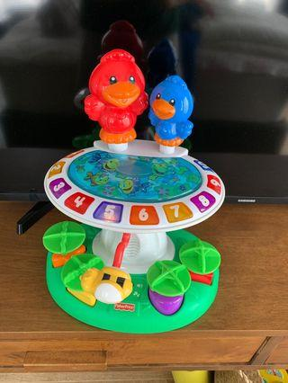 Birds numbers and shapes sing toys
