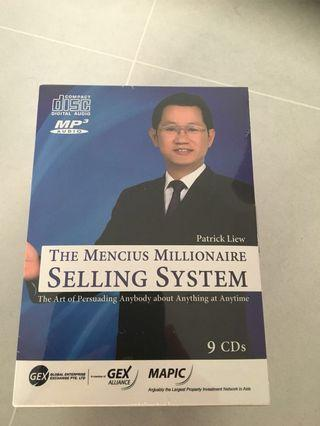 The Mencius Millionaire Selling System by Patrick Liew-dvd