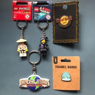 BNWT Keychains, Logo Pin, Badge