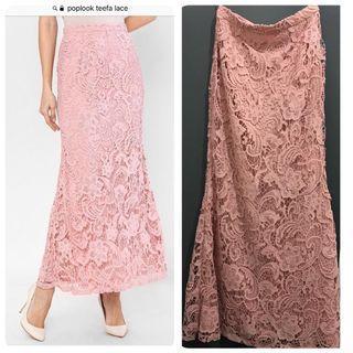 poplook Teefa lace skirt