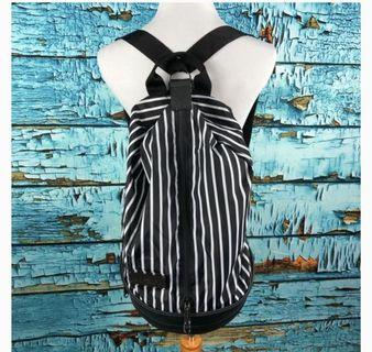 Adidas by Stella McCartney black and white backpack