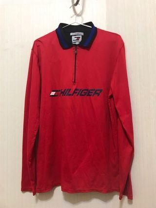 TOMMY HILFIGER RED JERSEY 長袖運動古著T恤 運動材質