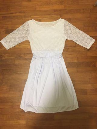 🚚 Dress - White/Frost color