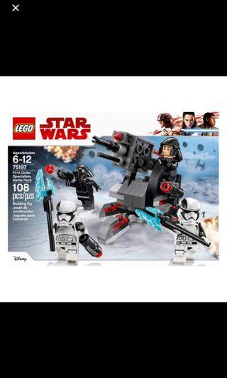 🚚 LEGO STAR WARS 75197 FIRST ORDER SPECIALIST BATTLE PACK without Minifigures NEW