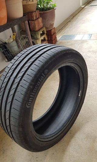 Continental tyre 225/45R17 (85%)