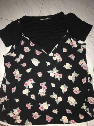 Top pull n bear / top hitam / blouse hitam