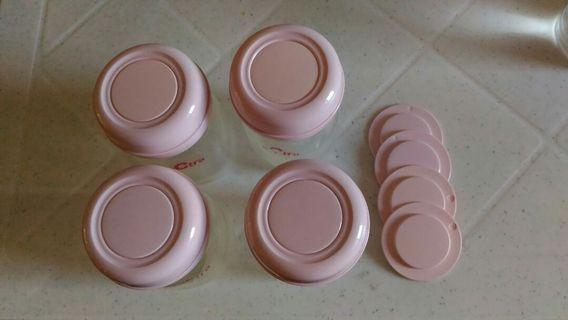 Spectra Storage Bottles with extra sealing disc