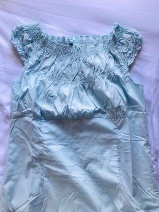 長身裙 湖水藍 綿 全新 cotton long 👗 dress