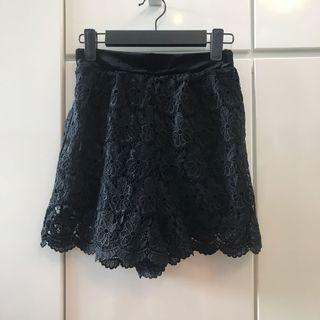 包郵 日本黑色蕾絲短褲 Black Lace shorts