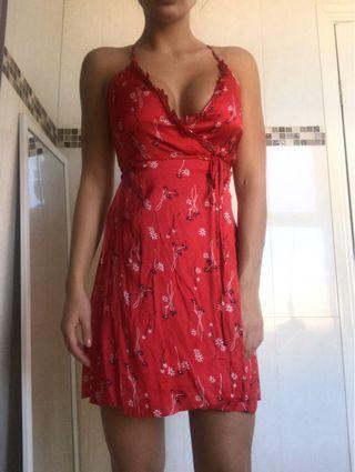 Bardot silk dress