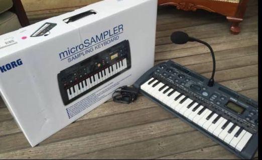 Korg micro sampler usb midi drum (100%new)