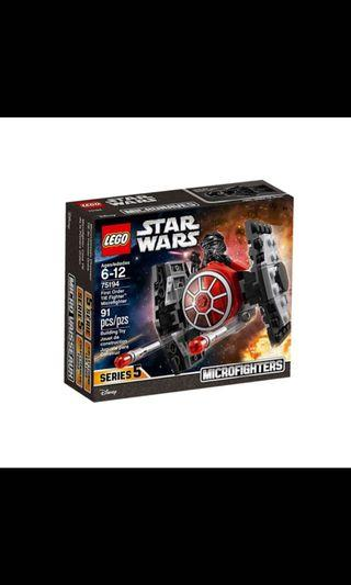 LEGO STAR WARS 75194 FIRST ORDER TIE FIGHTER MICROFIGHTER without Minifigures NEW