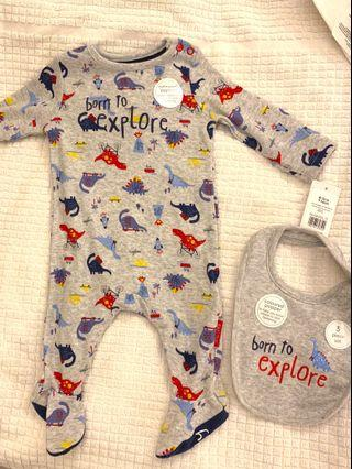 Dinosaur Baby Romper from mothercare