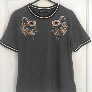 Marks and Spencer embroidered top