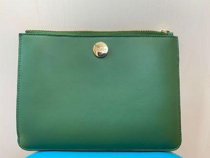 Oroton olive green pouch