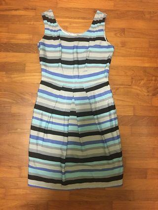 🚚 Blue Striped Dress