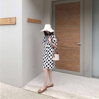 Chloe Black & White Polka Dots Summer Dress
