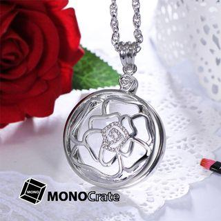 Magnifier Pendent Rose (Gold / Silver) [Magnifying glass, Reading aid, Low vision aid, Reading glasses, Handheld magnifier]