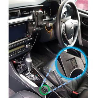 Toyota Altis 2014-2019 Dual USB charger   (also available in 3 different models. Suitable for Harrier Sienta Wish Estima Previa)  Read description!!