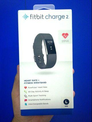 Brand New!! Fitbit Charge 2 (Large Band Size) with Heart Sensory Device