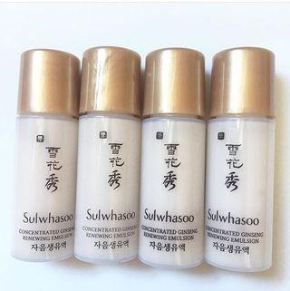 Sulwhasoo  Concentrated Ginseng Renewing Emulsion  滋陰生人參煥顏乳液 sample