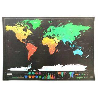 ⚠️特價品🌎征服者地圖Scratch Map - 給熱愛旅行的你