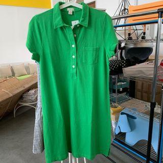 New jcrew polo T-shirt dress in xs s m
