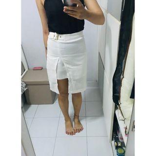 White Buckle Skirt