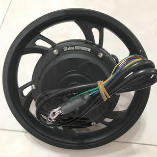 "12"" 60V 1000W HM Brushless Front and Rear Motor Instock Dual Phase"