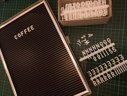 Display Letter / Menu Board for Cafes or Weddings