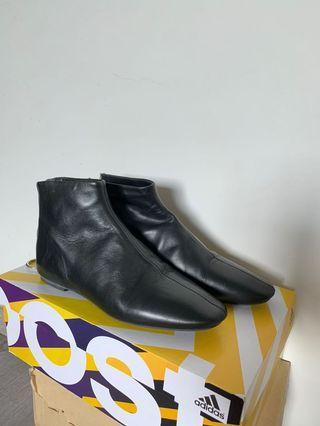 Zara Black Leather Boots Buttery Soft