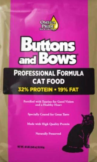 Button & Bows Cat food 9.07 SS2 PJ free delivery