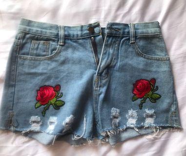 全新 韓國 牛仔短褲 made in Korea Jean shorts