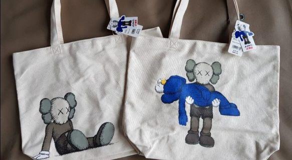 BNWT Authentic Uniqlo × Kaws Tote Bag (2 designs)
