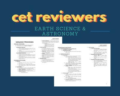 FOR CETs: Earth Science and Astronomy Online Reviewer