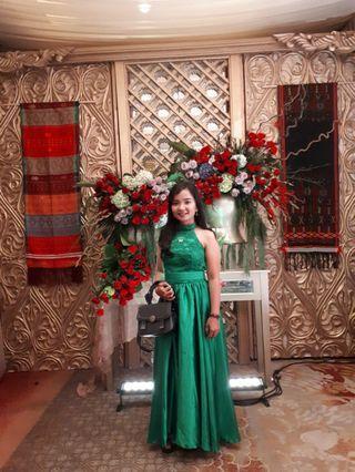 Dress Brokat Hijau (gaun pesta)