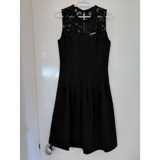 H&M black lace top dress