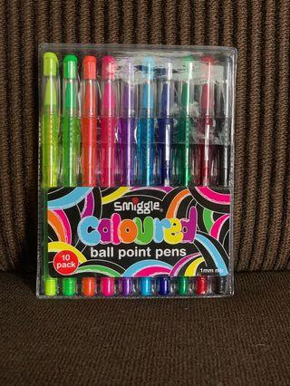 Brand New Smiggle Coloured Ball Point Pens