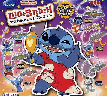史迪仔stitch魔法變身扭蛋-木偶