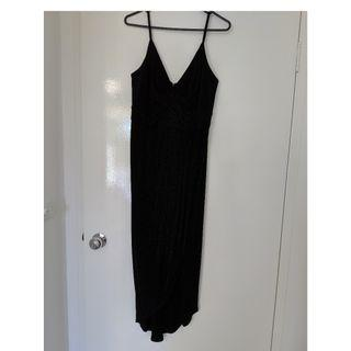 Forever New black sparkle dress
