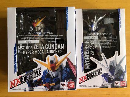 Nx Z and Hi-Nu Gundam