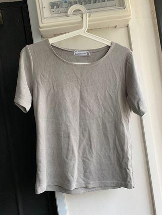 🚚 The Tinsel Rack TTR Faux Suede Grey Tee