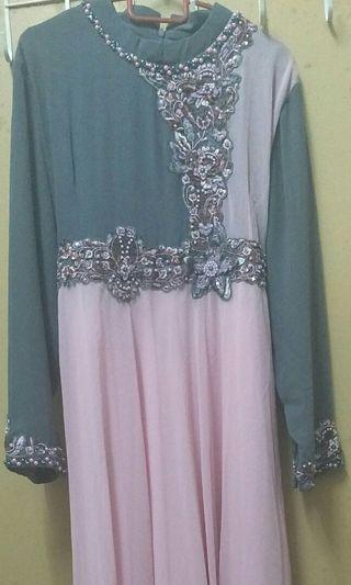 Fery Busana Dress Pink-Grey L size #Rayathon50