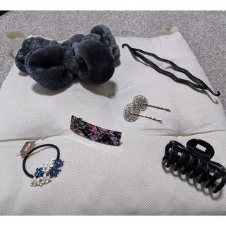 Bundle of hair accessories include fluffy headband