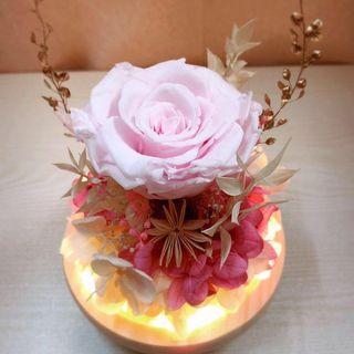 永生花 保鮮花 玫瑰 玻璃罩 擺設