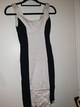 .black in white dress